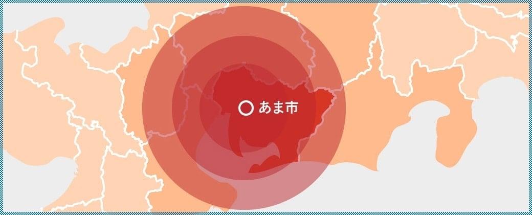 東海冷暖房株式会社の対応地域マップ